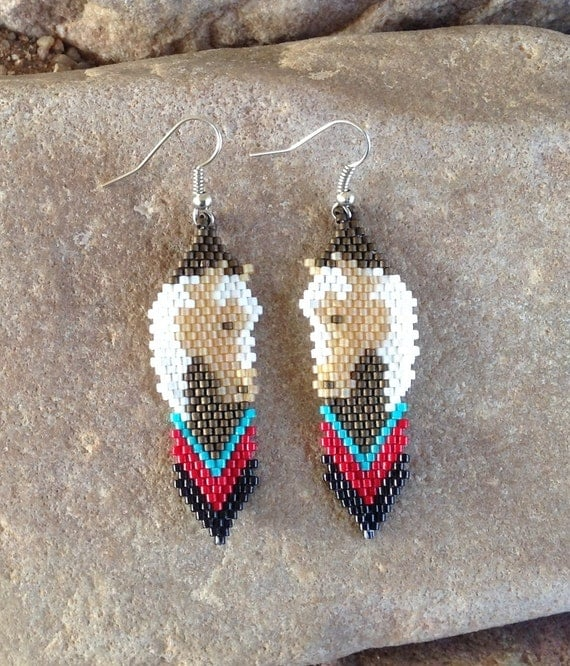 Horse Head Beaded Earrings