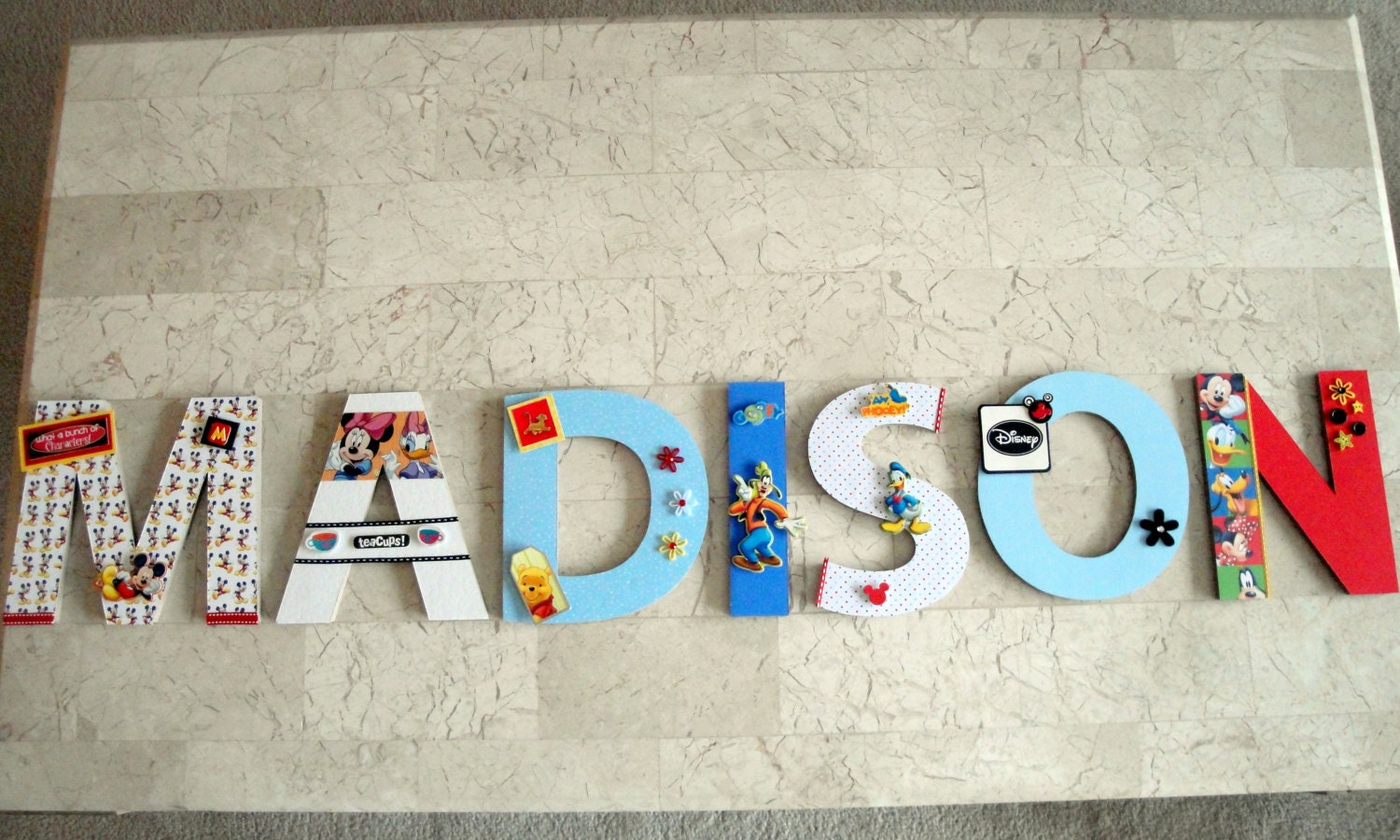 Disney Micky Mouse Characters Custom Wall Letters Disney