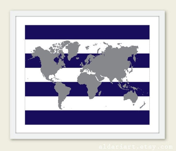 World map art print world map poster nursery map wall art like this item gumiabroncs Images
