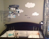 Green Navy Baby Blue Baby Mobile Ocean Creature Sea Baby Mobile CUSTOMIZE your colors!