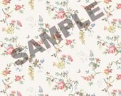Printable Vintage Victorian Dollhouse Wallpaper Download 1:12 scale