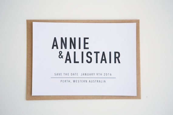 "SAVE THE DATE wedding / engagement invitations | Minimalistic Style ""Diane Suite"""
