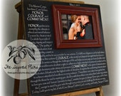 Wedding Vows, Marine, Marines, Marine Corps, Anniversary, Military Wife, Military Spouse, 16x16 The Sugared Plums