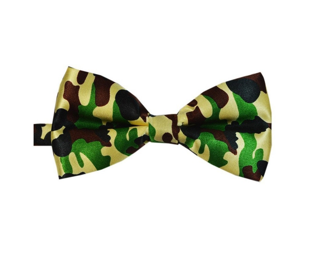 army camo bow tie adjustable mens bow tie camouflage by