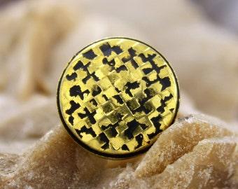 Metal Buttons - Lattice Antique Gold Metal Shank Buttons - 18mm - 11/16 inch - 6 pcs