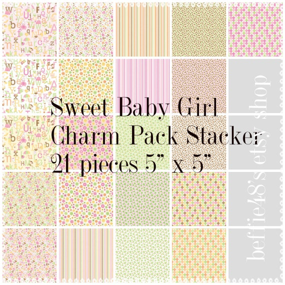 sweet baby by 5 inch charm pack stacker 21