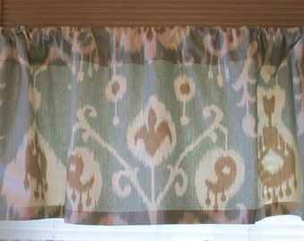 SALE  Sale  Window Curtain-Valance Premier Prints Ikat Java  Blue