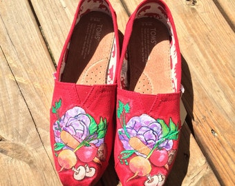 Fruit and Veggie Custom Toms Shoes for Foodies Chef Gifts Fruit and Vegetable Shoes