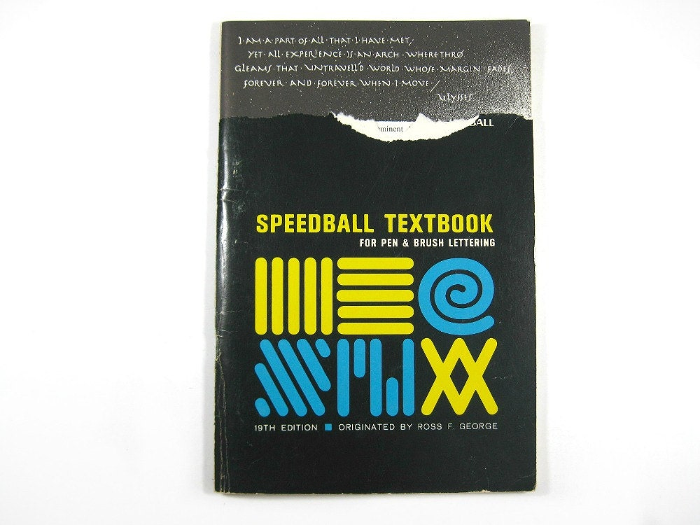 Speedball Textbook Calligraphy Reference Book By Autena On