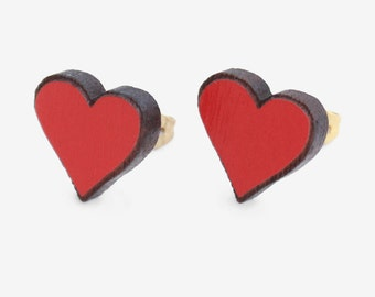 Sweet heart studs Ahoy Red