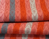 Table Runner, Hand Woven, Corals and Blues, Linen and Cotton