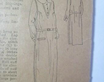 "Antique Peerless 1920's Dress Pattern #1210 - size 36"" Bust"