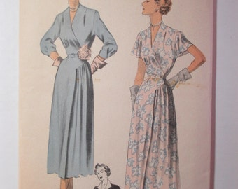 "Antique 1950 Advance Dress Pattern #5397 - size 40"" Bust"