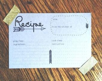 Arrow Recipe Cards