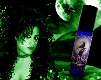 Wee Green Fae Perfume Oil: Absinthe, anise, juniper berries, light citrus, musk, vanilla accord, Victorian Perfume, Steampunk Perfume,
