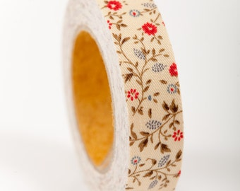 Fabric Tape - FT 005 Floral Mini Mums  Madison - Love My Tapes