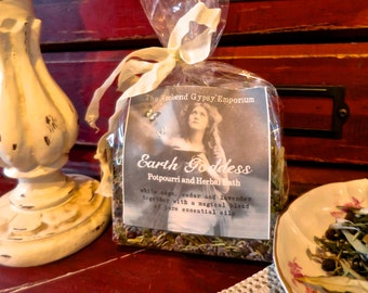 Earth Goddess Potpourri and Herbal Bath - organic white sage, cedar and French lavender