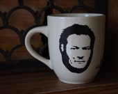 Blake Shelton Coffee Mug Hand Painted Cream
