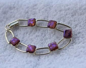 Bracelet - Lovely Lavendar Dichroic
