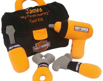 "Personalized ""My First Harley"" Child's Tool Kit Official Harley Product Free Shp"
