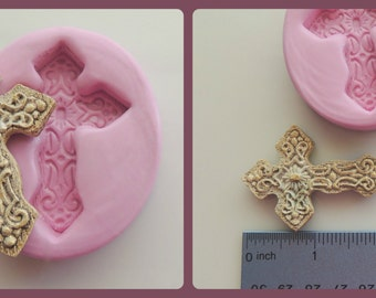 Fondant Cross Silicone Mold Resin Polymer Clay Mould