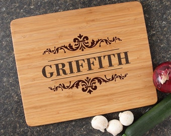 Personalized Cutting Board, Personalized Wedding Gift, Custom Engraved Bamboo Cutting Boards, Wedding Gifts, Housewarming Gifts-15 x 12 D16