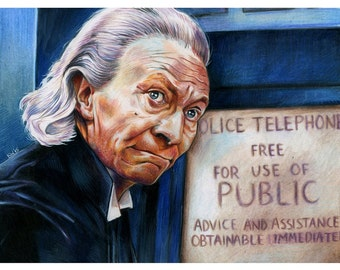 1st Doctor William Hartnell Color Print