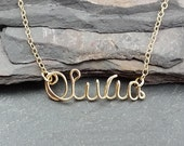 Personalized, Customized, 14k Gold Filled Name Necklace, artisan handmade