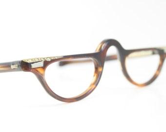 Tortoise Rhinestone cat eye reading glasses vintage cateye frames eyeglasses