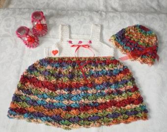 Fiesta 3 Piece Crocheted Dress Set
