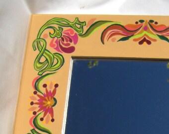 Art Nouveau Mirror Hand Painted by Dream Magic