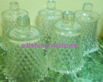 Newly Listed - Home Interior - Clear Diamond Cut  - No Grommets-  Votive Cups - Read Below - Small - 3 x 3 3/4 To To Bottom - Price Is For 1