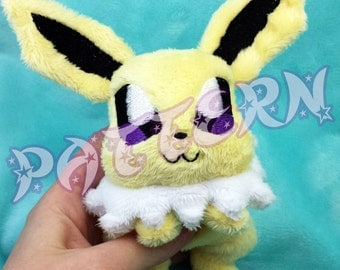 ITH PATTERN ~ In The Hoop Pattern for Jolteon Beanie Plush- Embroidery File Project