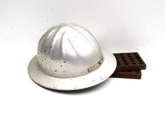 1970s Era Aluminum Safety Hat, McDonald Metal Safety Hat, Mine Safety Appliances Co.