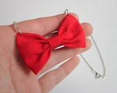 Red Bow Necklace - For Rebecca