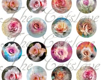 Rose Magnets Pins,  Rose Wedding Favors, Rose Cabochons, Gift Sets, Party Favors, Fridge Magnets