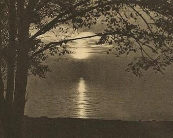 Sunset English Bay Vancouver British Columbia on Unused Vintage Postcard 1927 Leonard Frank Photo