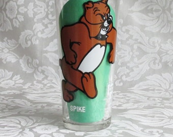 Vintage Spike Pepsi Collector Series Spike 1975 Drinking Glass Tumbler , M-G-M Inc