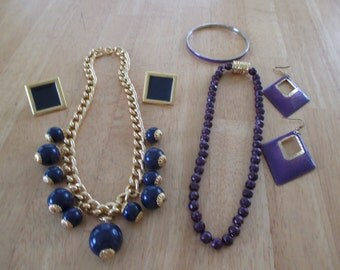 vintage costume jewelry /  2 sets  /  Clearing out sale was 15.00 now  10.00