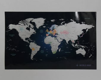 Scratch Off World Map - Indigo Blue Worldmap