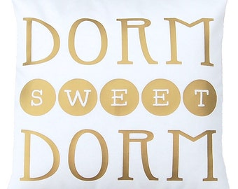 Dorm Pillow - College Student Gift - Dorm Decor - Graduation Gift Girl - Metallic Pillow - Dorm Decorations - High School Graduation Gift