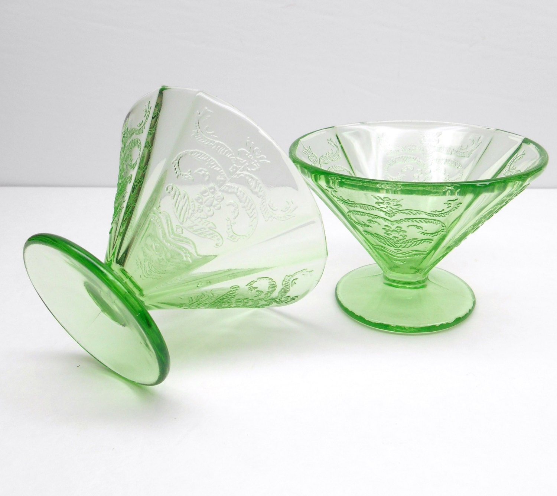Vintage Green Depression Glass 62