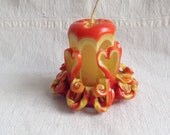 Vintage carved twisted candle groovy candle