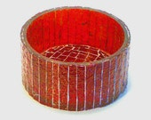 Stained Gass Mosaic Valentines Day Art Table Top Decorative Liverpool Red Candle Holder Bowl