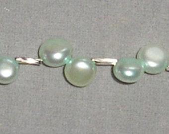 Offset Button Pearl Bracelet