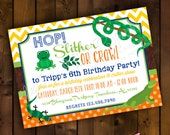 Printable Invitation Design - Creepy Critters Reptile Themed Collection - DIY Printables by The Paper Cupcake