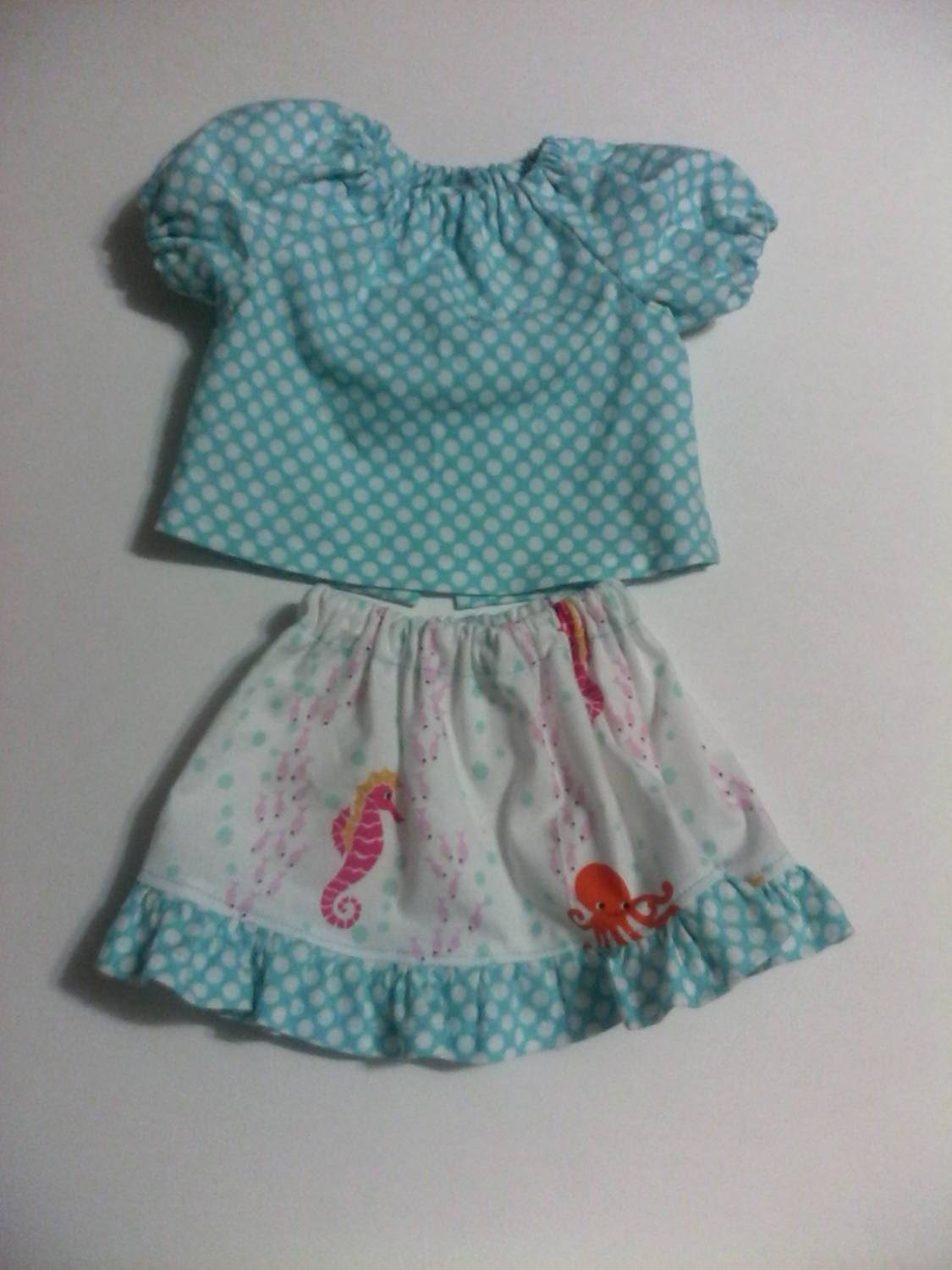 Baby Alive And Waldorf Doll Clothes Flirty Ruffled Skirt And