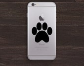 Paw Print Vinyl iPhone Decal BAS-0167