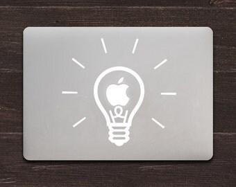 Lightbulb Vinyl MacBook Decal BAS-0220