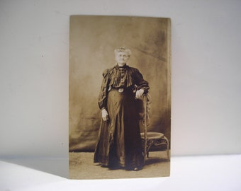 Turn of the Century Photograph Postcard of Victorian Woman